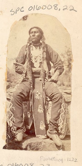 A-sa-wa-ka-red-i-hewl (aka Big Spotted Horse) - Pawnee – 1875