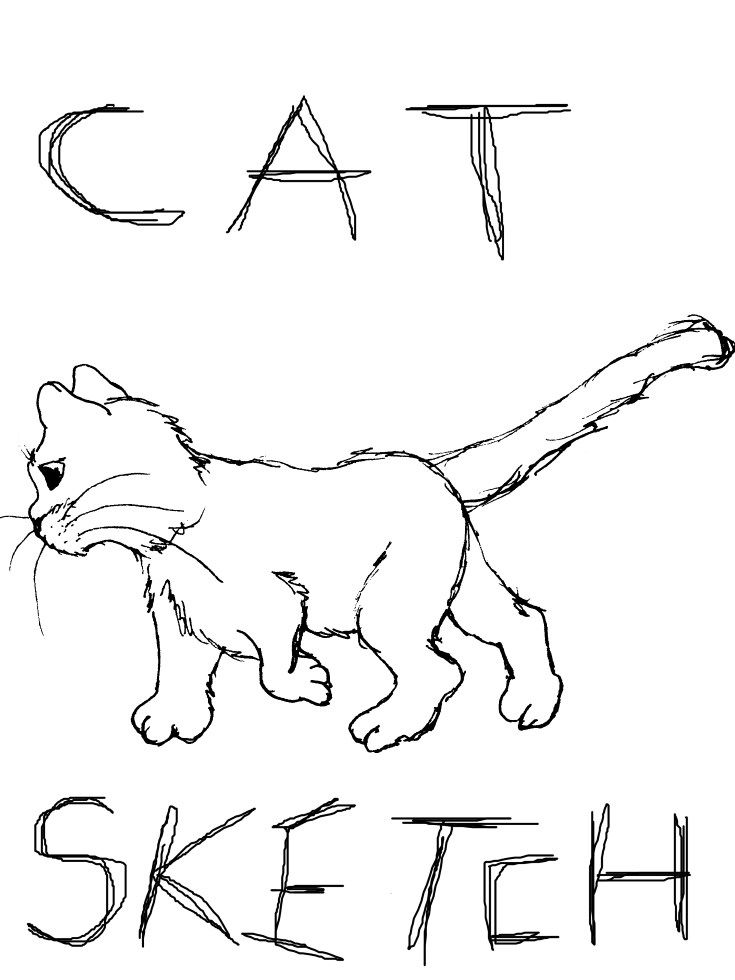 Cute Cat Coloring Page Sketch How To Create Your Own Coloring Pages