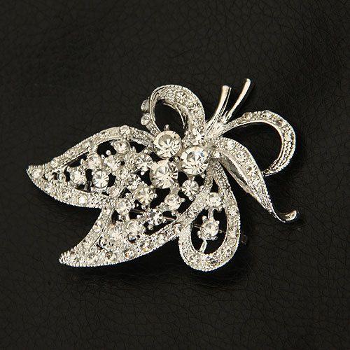 Min Order is $10 Friendship Cheap Fashion Flower Dress Brooch Rhinestone Women Brooches For Wedding Free Shipping