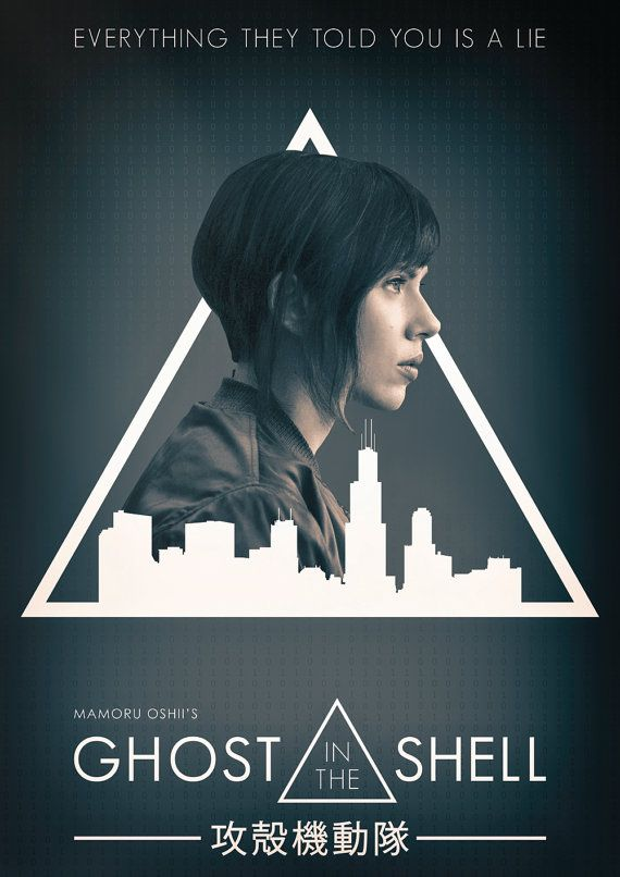Ghost In The Shell 2017 Movie Poster by ExtremepandaDesign on Etsy