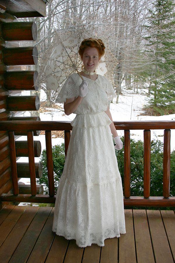 150840-1 Chantilly Lace Edwardian Dress