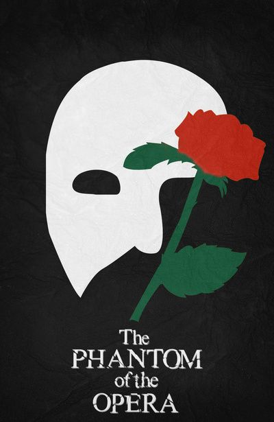 The Phantom of the Opera (2004) ~ Minimal Movie Poster by Begum Ozdemir #amusementphile