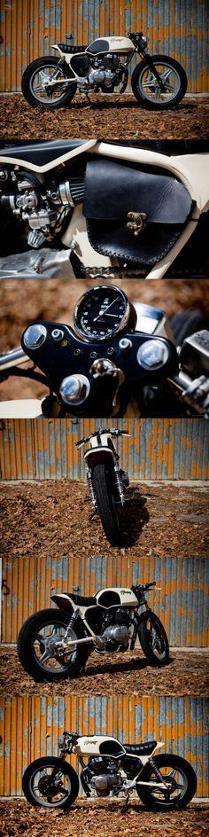 ...Honda CB250 Superdream by OEM - bolsa de couro lateral