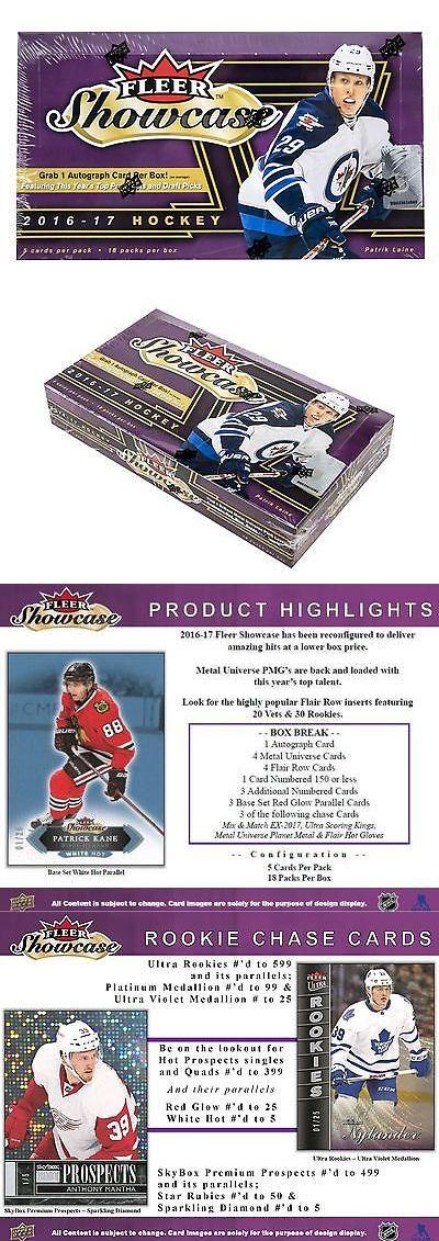 Ice Hockey Cards 216: 2016 17 Upper Deck Fleer Showcase Hockey Hobby Box -> BUY IT NOW ONLY: $80.95 on eBay!
