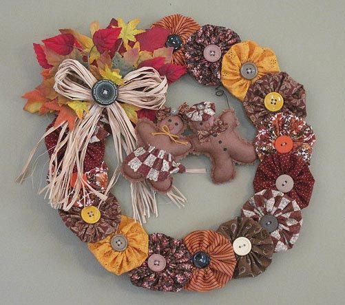 Yo Yo Fall Wreath
