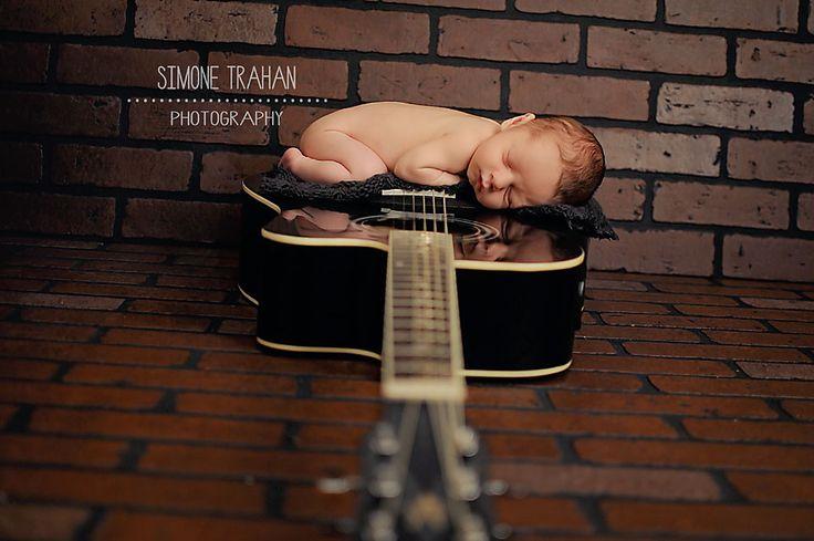 simone.trahan.photography: Newborn Boy Photography, Newborn guitar photography