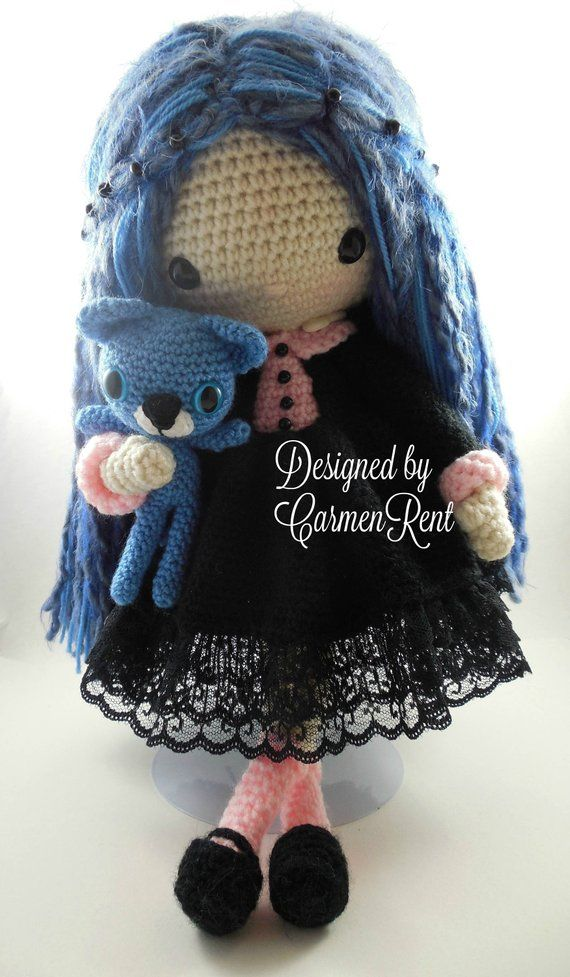 Resultado de imagem para nines amigurumi pinterest   Knitted dolls ...   977x570