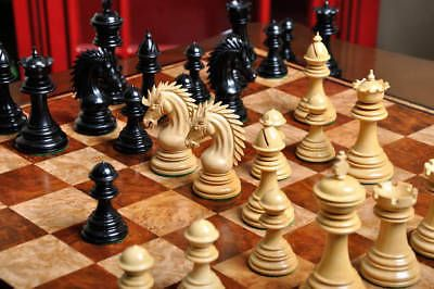 USCF-Sales-The-Modena-Luxury-Chess-Set-Pieces-Only-4-4-034-King-Genuine-Ebon