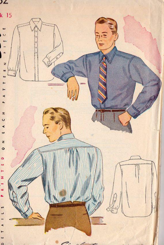 1940s Mens Shirt $20.00