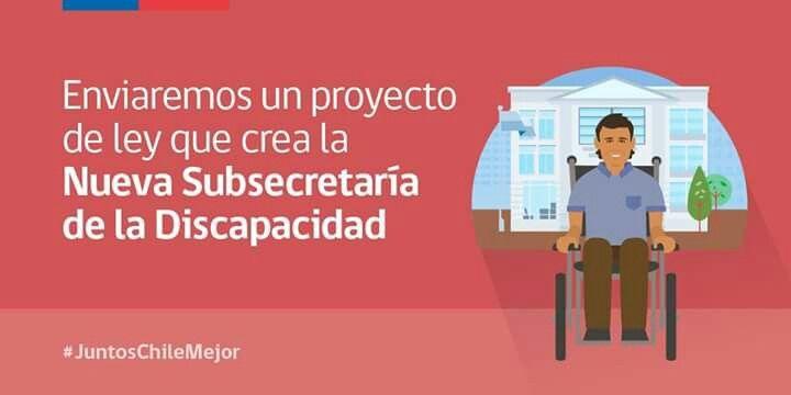 Nueva Subsecretaría de la Discapacidad #JuntosChileMejor