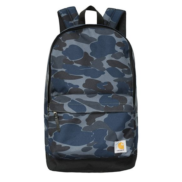 Carhartt WIP Kane Backpack - Camo Isle, Duke Blue / Black