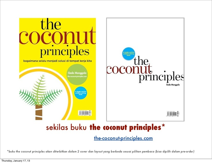 the-coconut-principles-brief-summary by Gede Manggala via Slideshare