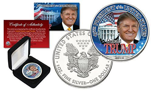DONALD TRUMP For President 2016 1 oz PURE SILVER AMERICAN US EAGLE in Deluxe Box - http://coffmansourcing.com/donald-trump-for-president-2016-1-oz-pure-silver-american-us-eagle-in-deluxe-box/