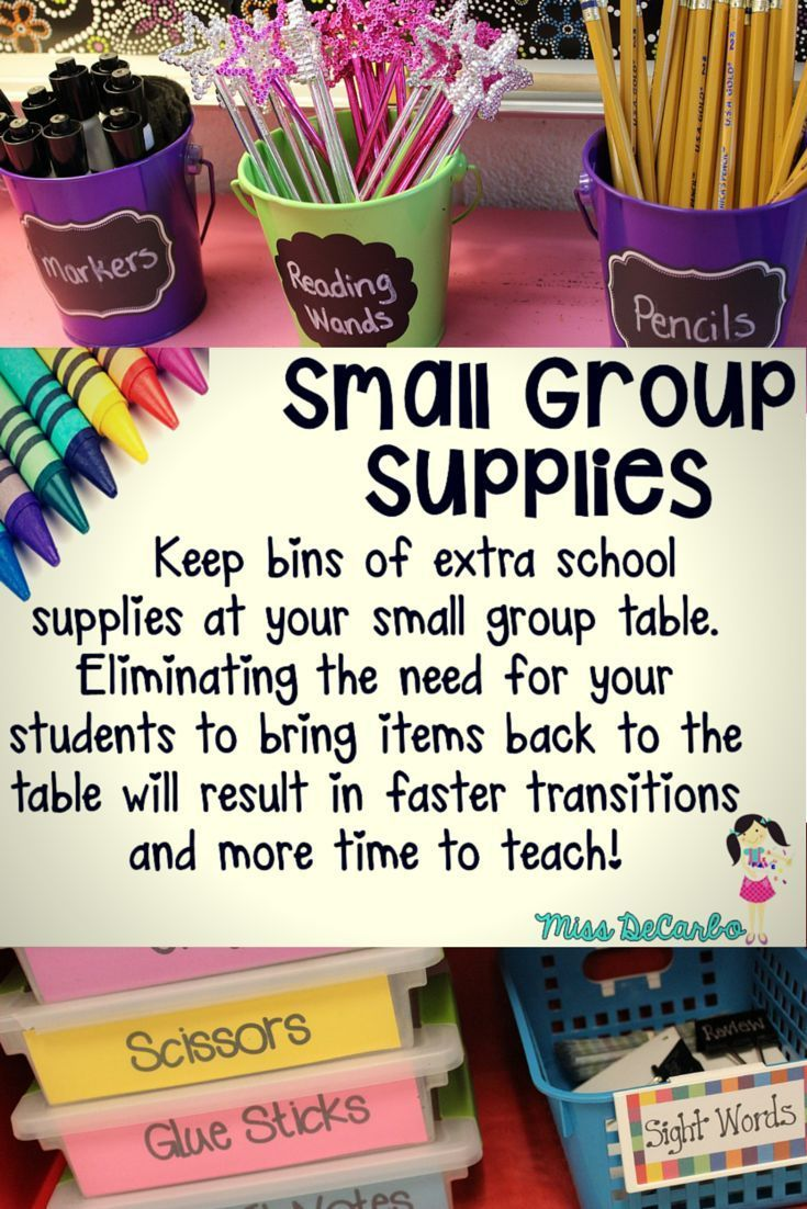 Small Group Storage and Organizational Tips & Tricks - By Miss DeCarbo