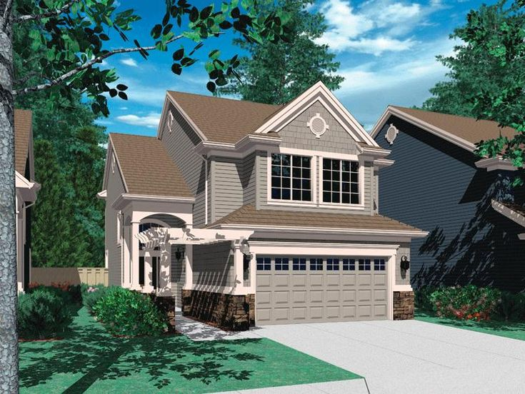 house plan 2559 00284 narrow lot plan 1919 square feet 4 bedrooms 25 bathrooms - 1919 House Plans