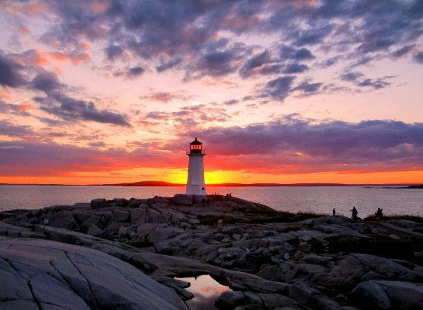 Awesome sunset - Peggy's Cove