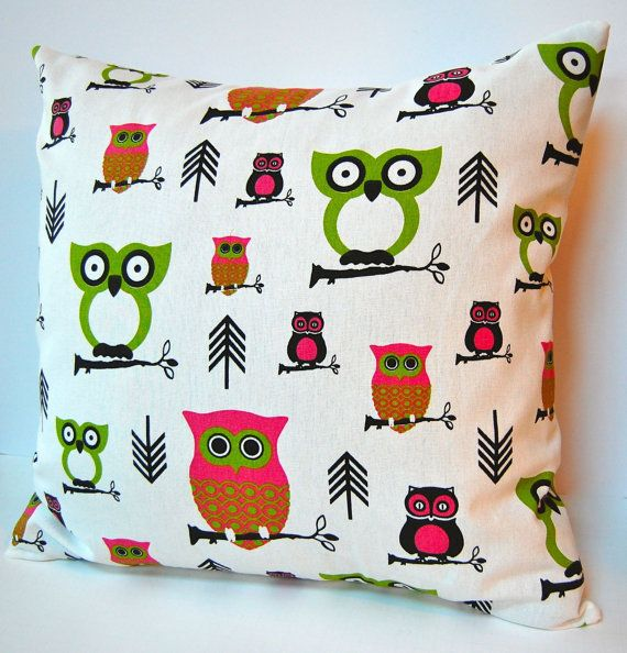 Pillows Owl Decor Nursery Decor Pillow Covers by FestiveHomeDecor,
