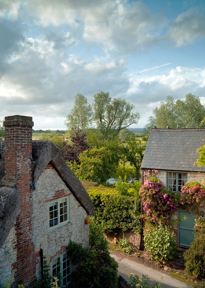 Amberley in West Sussex, which is a magical little village with the most picturesque cottages. UK