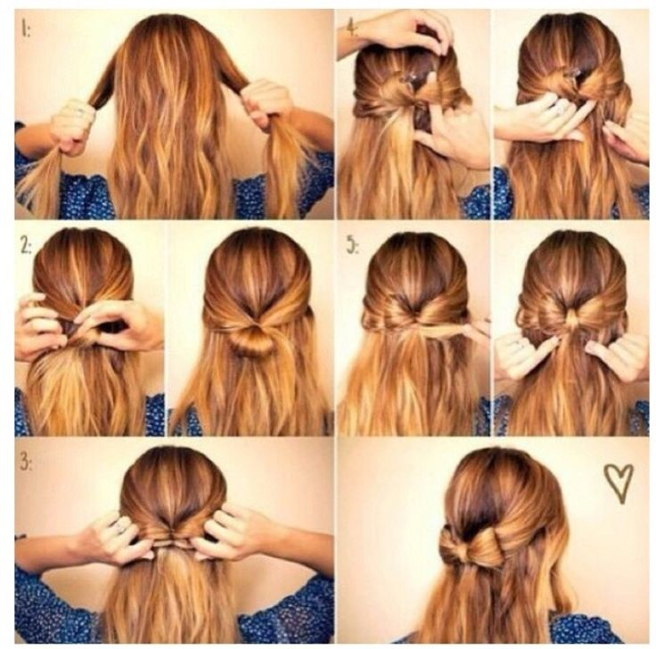 This cute an Easy bow hairstyle will make everyone stop and stare!!! | Bow hairstyle, Hair styles