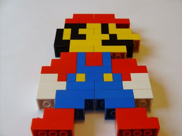 Easy LEGO Creations | Simple Mario Model : a LEGO® creation by Benjamin Jones : MOCpages ...