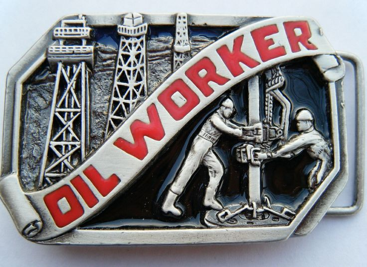 Oil Field Rig Drilling Worker Tools Pewter Belt Buckle