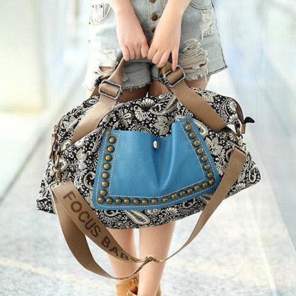 Ethnic Style Rivets and Splice Design Women's Tote Bag, AS THE PICTURE in Tote Bags | DressLily.com