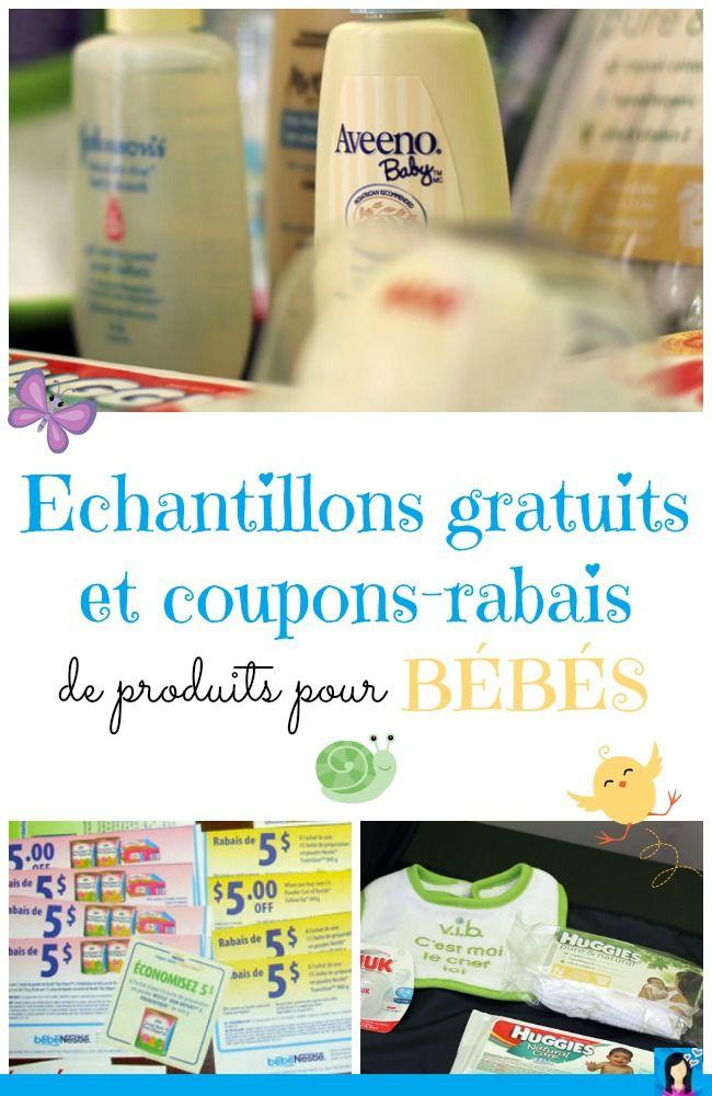 Échantillons gratuits et coupons-rabais de produits pour bébés + des codes promo pour des articles de maternité !