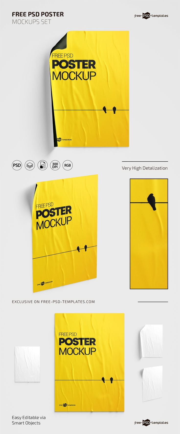 3 Free Poster Psd Mockups Templates Free Psd Templates Mockup Template Free Mockup Template Psd Mockup Template