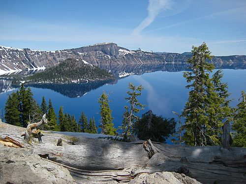 Crater Lake USA. It has the purest water in the USA and it's the 9th largest lake in the world. A sacred place for the Klamath tribe