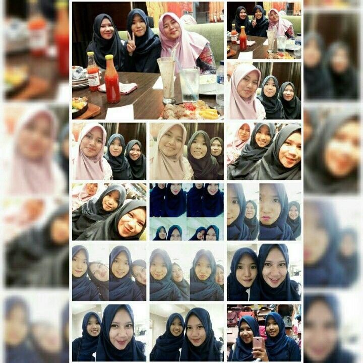 Hii..  This is me and my sweet best friends. We are be friend starting from primary school hope till' Jannah, the best ever!!!! Aamiin...😇