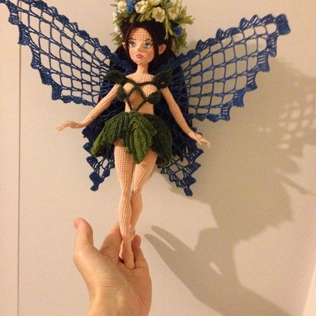Amigurumi fairy doll wings. This is amazing! (Inspiration).
