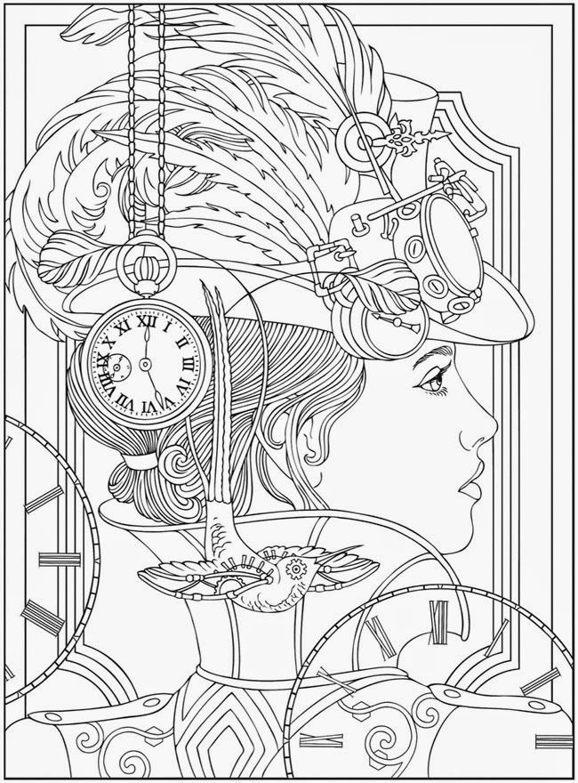 Complex Coloring Pages For Teens And Adults Best Coloring Pages For Kids Steampunk Coloring Designs Coloring Books Coloring Pages