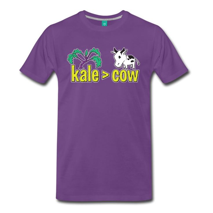 kale (is greater than) cow  If heart disease doesn't get you, maybe global warming will. Do you know you can reduce the threat of both of these, just by cutting down on your beef intake? Raising industrial cattle sucks up a huge amount of resources and releases a massive amount of carbon dioxide into the air. Maybe we should consider eating a little more kale and a little less cow!