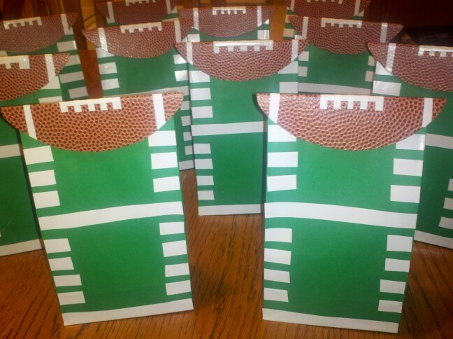 Football Goo Bags My Creations Pinterest Treat And Cheer