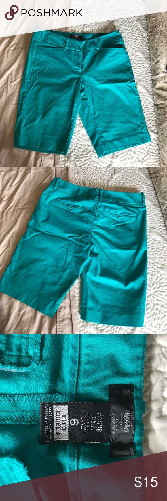 """Mossimo shorts Turquoise shorts from Mossimo. Size 6, 10"""" inseam. Loved and in great condition. Mossimo Supply Co Shorts"""