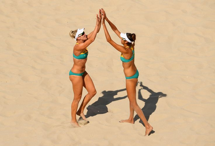 DAY 1: Women's Beach Volleyball - Louisa Bawden and Taliqua Clancy of Australia vs Costa Rica