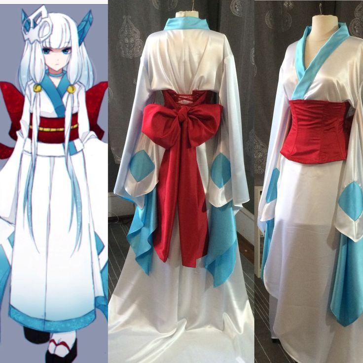 Pokemon Frosslass gown  Custom order based on this design for an anime lover's wedding.