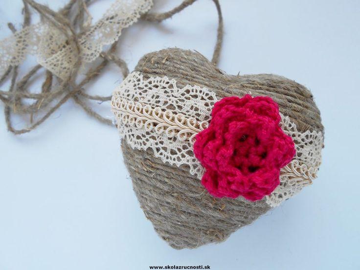 srdce polystyrén vintage styro heart lace