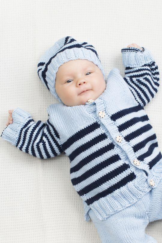 Vauvan raitajakku 60(70)80 cm Novita Puuvilla-bambu | Novita knits