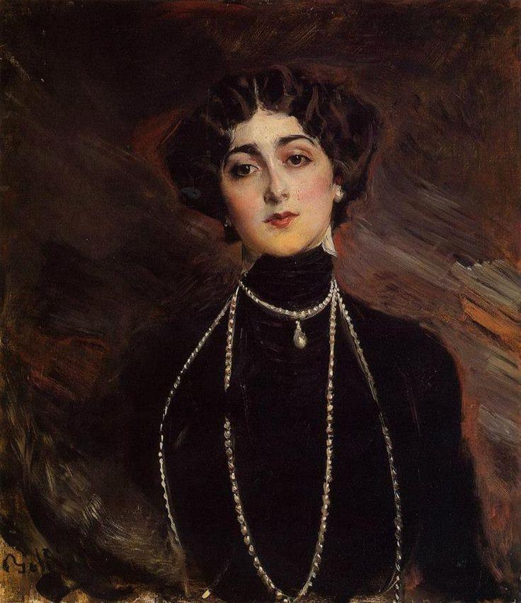 Портрет Лины Кавальери, перед лицом Форназетти