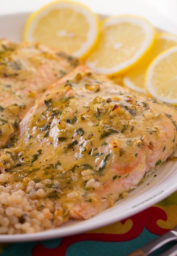 Baked Salmon with Honey Dijon and Garlic - Table for Two