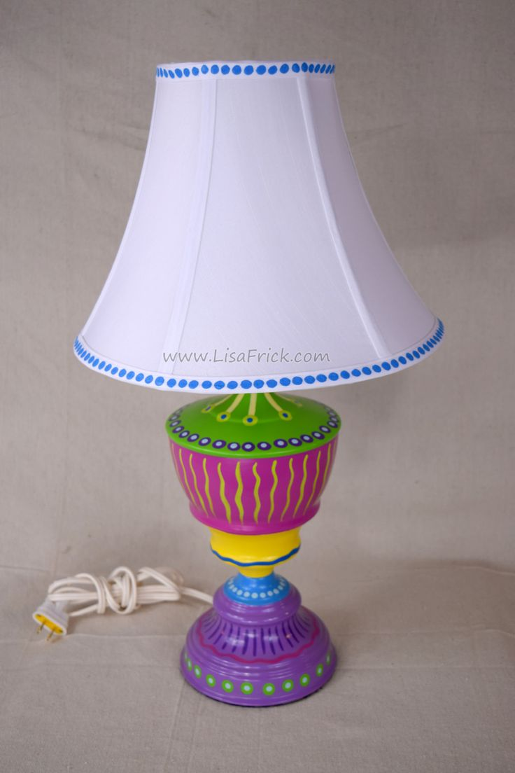243 best lisas creations images on pinterest hand painted hand painted table lamp and shade 016 fun funky whimsical and crazy free shipping geotapseo Gallery