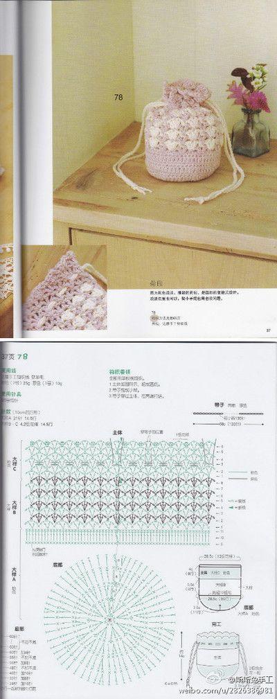 Crochet bag chart pattern