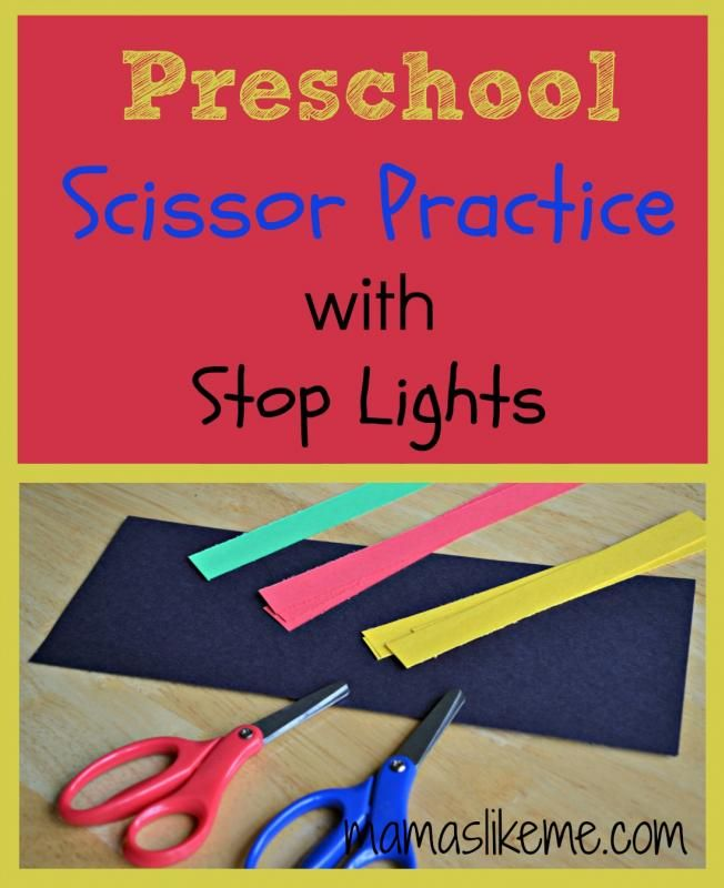 Mamas Like Me: Scissor Practice Stop Light Craft #transportation #kidscrafts #preschool