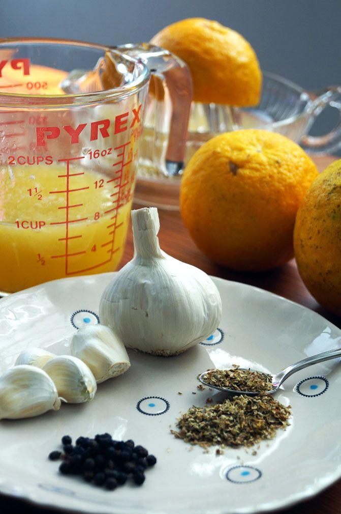 Cuban Mojo Criollo - Sour Orange & Garlic Marinade and Dressing ::: TheCuriousCoconut.com