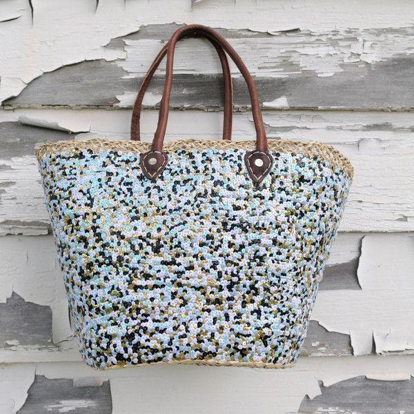 Everything Basket- Multi Sequined Pattern #handmadehourUSA http://www.one1earth.com/#_a_marymadalene