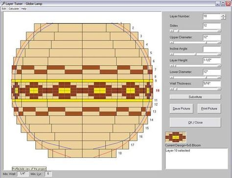 Segmented Woodturning Calculator | If you use the Layer Tuner with the display set to show the segments ...