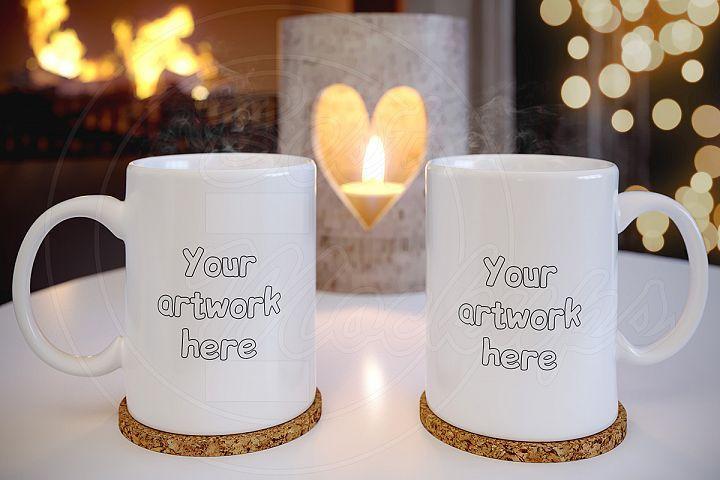 Couple Empty Tea Cup Mockup Template 163378 Mockups Design Bundles Mug Template Mockup Template Tea Cups