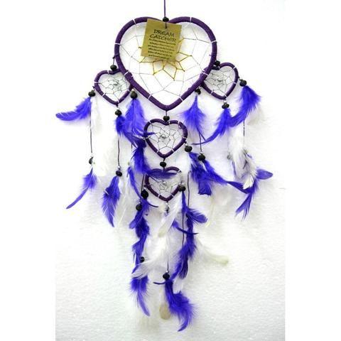 Purple Heart Dream Catcher - The Hippie House