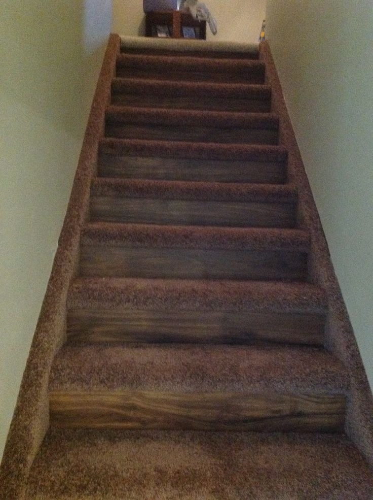 Good solution to redoing stairs luxury vinyl plank with for Luxury stair carpet